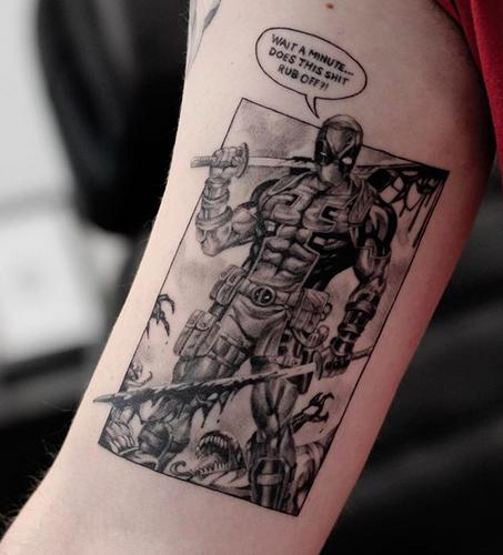 Deathpool tattoo