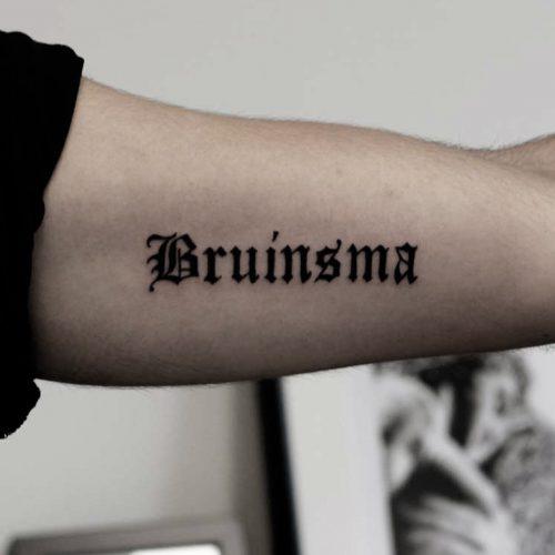 Tattoo - Clarence Milas - Bruinsma